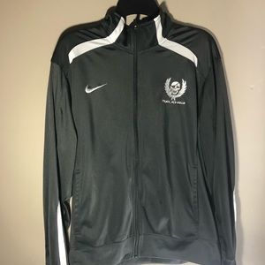 Nike track grey zipped jacket
